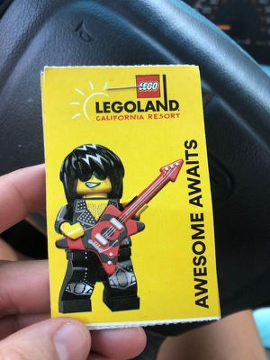 4 tickets to lego land -park hoppers for Sale in Perris, CA