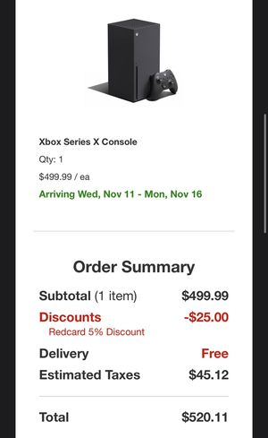 Xbox series x pre-order confirm from target for Sale in Monterey Park, CA