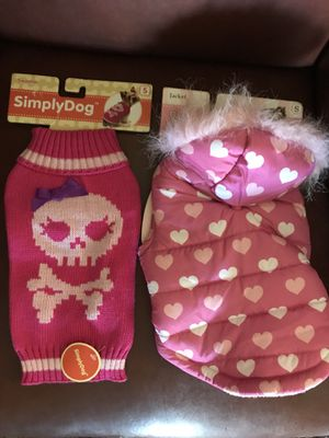 Small dog sweater & Jacket for Sale in Lancaster, CA