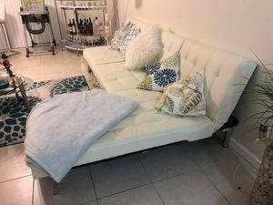 White sectional sofa bed for Sale in Fort Lauderdale, FL