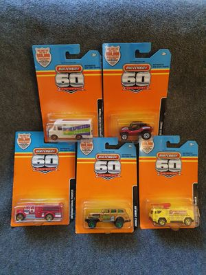 5 Matchbox 60th Anniversary carded vehicles for Sale in Williamsport, PA