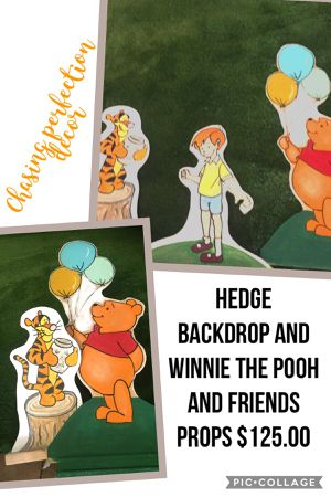 Winnie the Pooh and friends hedge backdrop $125.00 reserve early to get price. for Sale in Montclair, CA