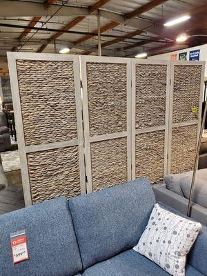 4 Panel Room Divider, Grey for Sale in Santa Ana, CA