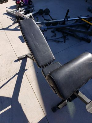 Adjustable Bench with Preacher Curl for Sale in Glendale, AZ