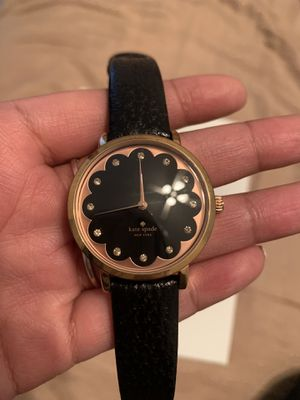 Kate spade rose gold and black leather watch for Sale in Austin, TX