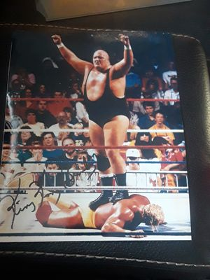 King Kong Bundy Signed Auto 8x10 vs Hulk Hogan WWF WWE for Sale in Lynn, MA
