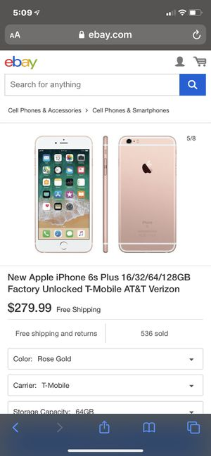 iPhone 6s Plus rose gold unlocked for Sale in Portland, OR