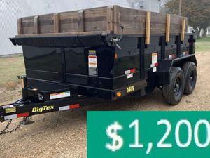 Price$12OO BIG-TEX 14LX 2017 hydraulic dump for Sale in Savannah, GA