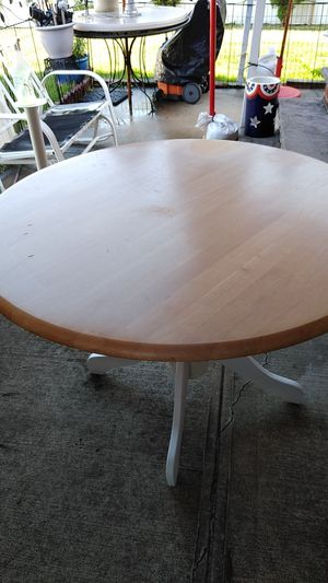Breakfast table round. All wood. for Sale in Floral Park, NY