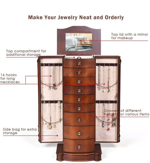 Jewelry Armoire Cabinet Stand