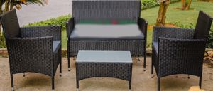 New!! Conversation Set, Outdoor Loveseat, Patio Furniture, Coffee Table, Backyard Chairs,4Pc Set for Sale in Phoenix, AZ