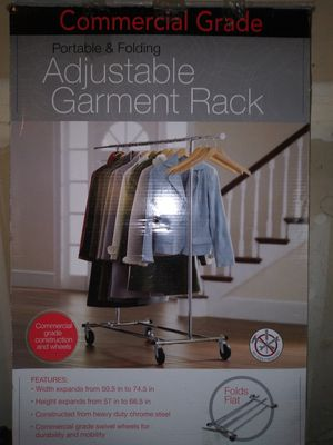 Commercial Grade Adjustable Garmet Rack for Sale in Tacoma, WA