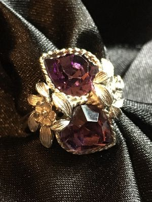 Vintage Adjustable Purple Love Story Ring by Sarah Coventry for Sale in Raymore, MO