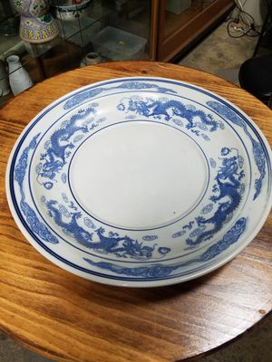 Chinese porcelain plate for Sale in Los Angeles, CA
