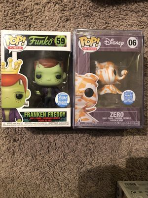 Franken Freddy and Disney zero limited edition funko pop for Sale in University Place, WA