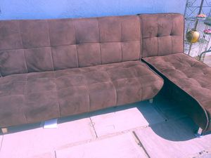 Brown Sofa Bed Recliner couch for Sale in Cathedral City, CA