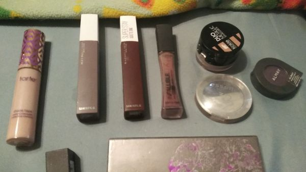 Assorted makeup all barely used or brand new