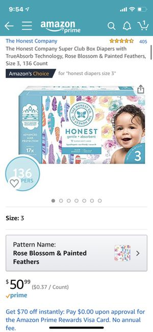 The Honest Company Diapers - 136 total for Sale in La Mirada, CA