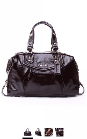 Coach Coach Ashley Patent Satchel Purse F20460 SV/MA Brown for Sale in Hilliard, OH