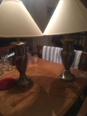 2 Silver Lamps for Sale in Dallas, TX