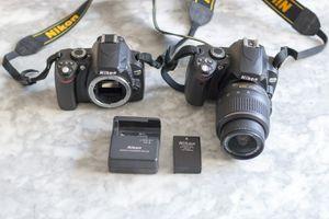 Nikon D40x, D60 DSLRs + Lens + Battery + Charger for Sale in Arlington, VA