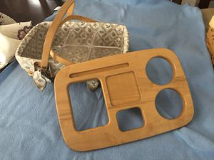 Longaberger travel basket with lid for Sale in Mesa, AZ