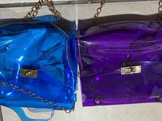 Purple or blue See-through Mini bag 5 A piece for Sale in Port Richey,  FL