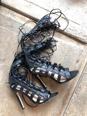 8fa5ec9a1ea Heeled sandals straps to the knees for Sale in Fresno