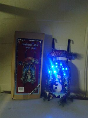 CHRISTMAS LED WELCOME SLEDS-TWO for Sale in New Richmond, WI