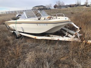Boat trailer 22 ft take trailer our boat And trailer for Sale in Amarillo, TX