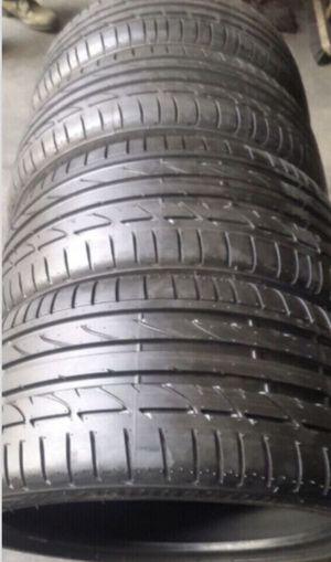 Staggered set of Bridgestone run flat tires for Sale in Manassas, VA