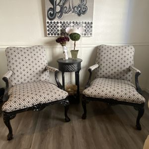 2 Vintage Modern Farmhouse Chairs $250 OBO for Sale in Chino Hills, CA