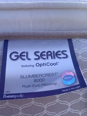 King Size Posturepedic gel series mattress and box spring for Sale in Wichita, KS