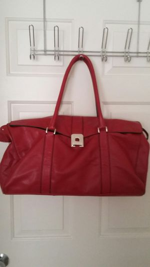 BEAUTIFUL REAL LEATHER TOTE BAG, RED LARGE Must see for Sale in Alexandria, VA