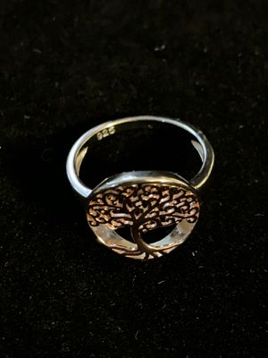 Sterling Silver 2 Tone Rose Gold Plated Tree of Life Ring for Sale in Quincy, IL