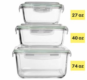 Razab 6 pc. Glass Containers for Sale in Simpsonville, SC