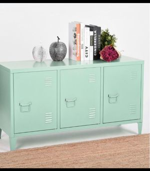 Matapouri 3-Doors Green Metal Accent Cabinet TV Stand With Storage🧿 for Sale in Houston, TX