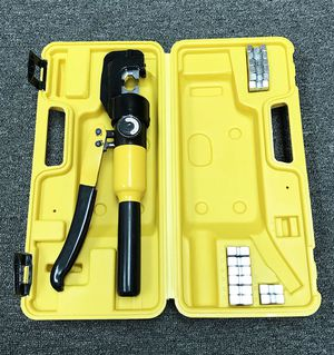 New in box $35 Crimper 10 Ton Hydraulic Crimping Tool /w 9 Dies Wire Battery Cable Lug Terminal for Sale in Whittier, CA