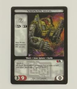 Battletech TCG Naginata NG-C3A 1997 Wizards of the Coast CCG Trading Card for Sale in Oregon City,  OR