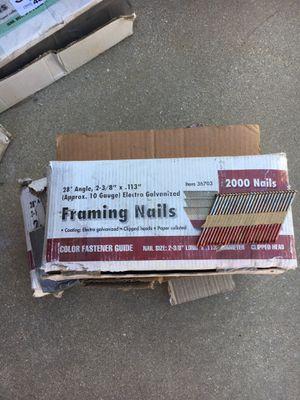 2 boxes gun nails for Sale in Hesperia, CA