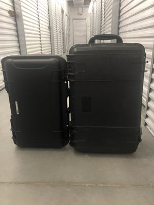 2 hard shell drone case with drone accessories for Sale in Houston, TX