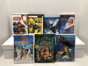 7 Disney And Kids Movies on Blu Ray or DVD for Sale in Orland Park, IL