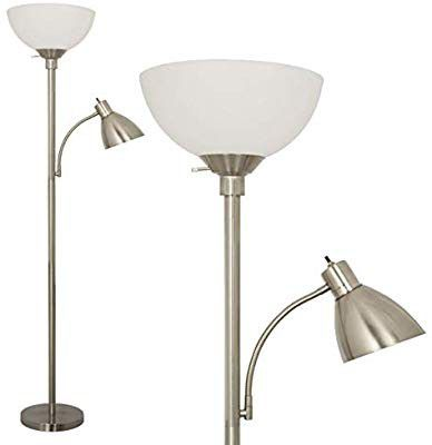 Floor Lamp by Light Accents - Metal Standing Lamp with Side Reading Light - Mother Daugh