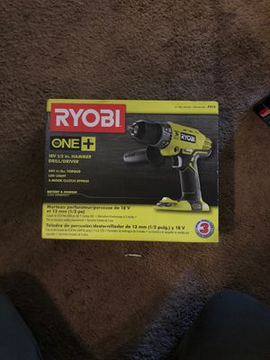 RYOBI 18V 1/2 in HAMMER DRILL/DRIVER for Sale in Washington, DC
