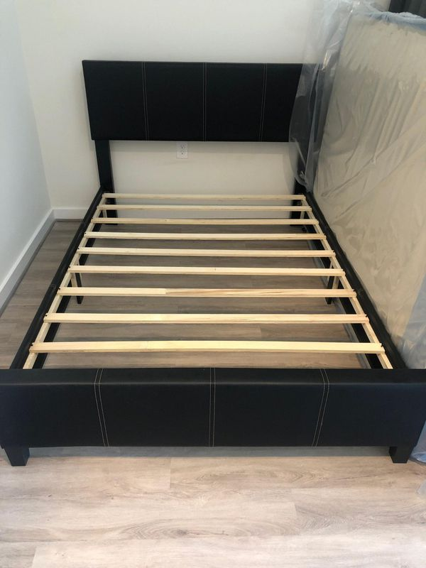 Brand New Full Size Leather Platform Bed Frame