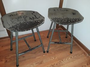 Pair of Tractor Seat Metal Bar Stools for Sale in Raleigh, NC