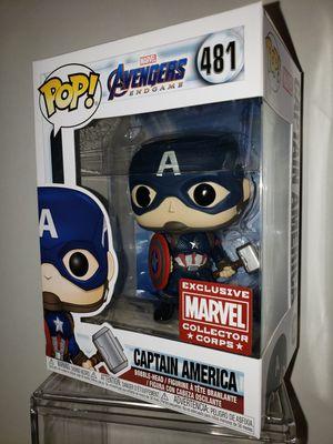 Captain America Worthy Cap AVENGERS Endgame MARVEL Funko POP Collector Corps EXCLUSIVE for Sale in Shoreline, WA