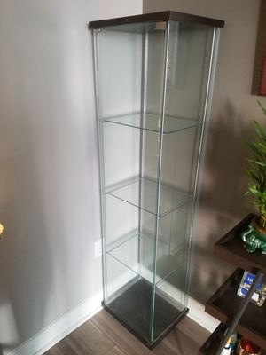 Glass Cabinet / Display Case (IKEA pre-assembled) for Sale in Bethesda, MD