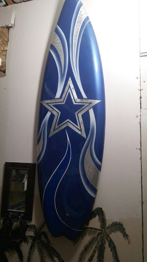 Cowboys surfboard. Custom one of a kind paint. for Sale in Las Vegas, NV