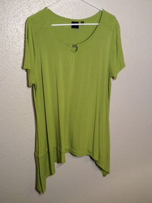 Brand New Women's Lime RAFAELLA Stretch Spandex Tunic Top Dress in package - size XL for Sale in Austin, TX